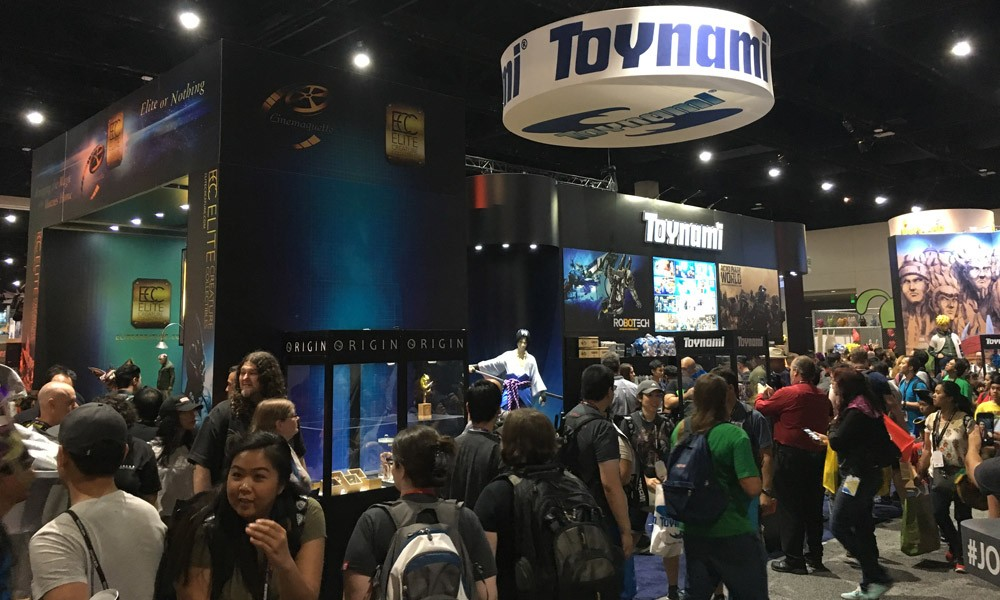 Toynami's booth #3229 at San Diego Comic Con