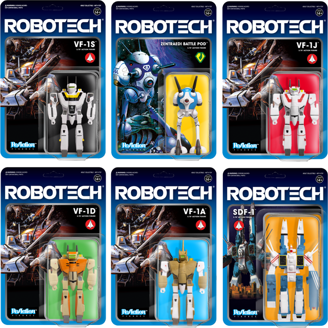 Robotech ReAction Figures by Super 7!