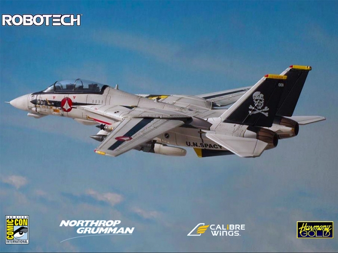 CALIBRE WINGS ANNOUNCES ROBOTECH F-14 AT SDCC, UPDATED WITH MORE PHOTOS