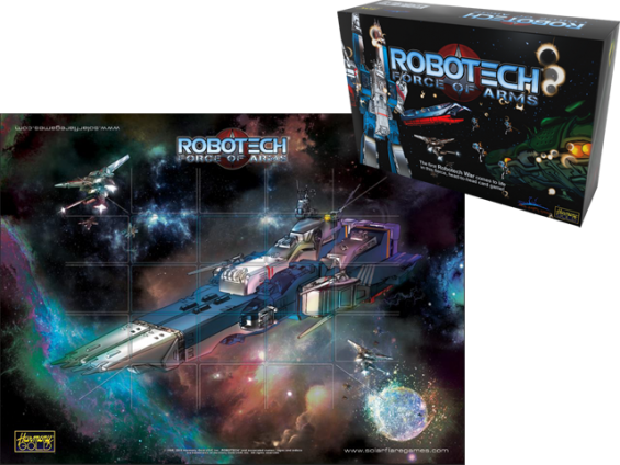 Robotech Force of Arms Cardgame Playmat from Solar Flare Games