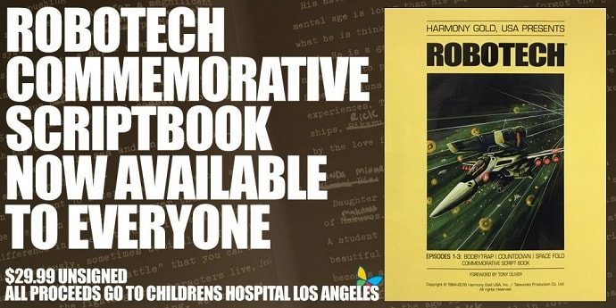 ROBOTECH CHARITY SCRIPT BOOK AVAILABLE TO EVERYONE!